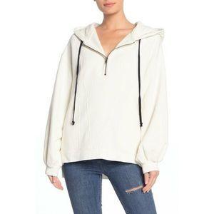 Free People High Road Hoodie Sweatshirt M 1/4 Zip